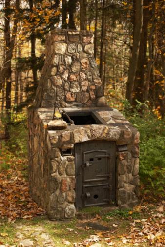 DIY al aire libre horno de ladrillo