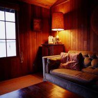 Cómo crear paredes rústicas cabina dormitorio
