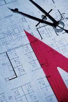 Como se indica un interruptor de luz sobre un plan de arquitectura palabra
