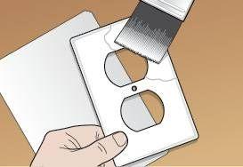 C mo cubrir placas de pared el ctrico con el papel pintado - Papel para cubrir paredes ...