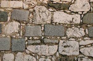 Ideas para una chimenea de piedra del adoquín